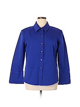St. John Long Sleeve Button-Down Shirt Size XL
