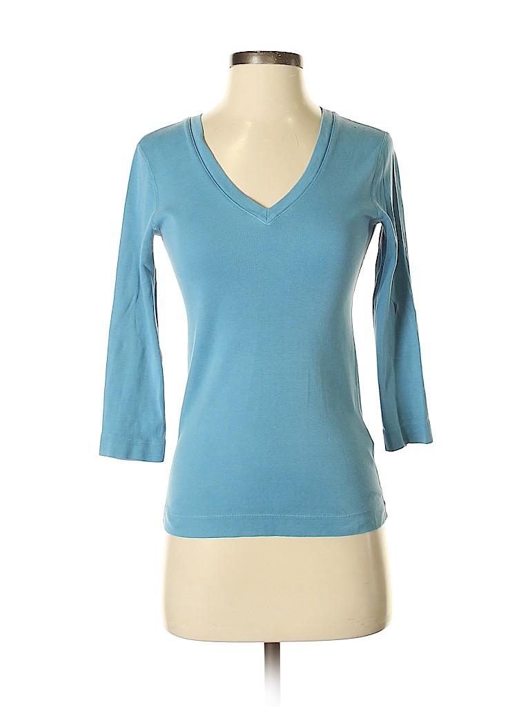 Three Dots Women 3/4 Sleeve T-Shirt Size S