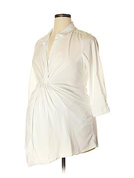 Maternal America 3/4 Sleeve Button-Down Shirt Size XL (Maternity)