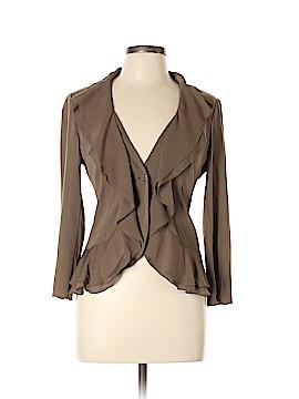 DKNY Long Sleeve Silk Top Size 10