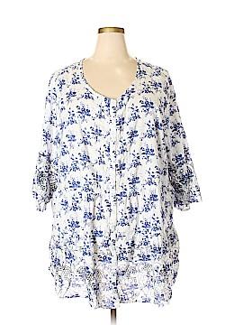 Ellos 3/4 Sleeve Blouse Size 3X (Plus)