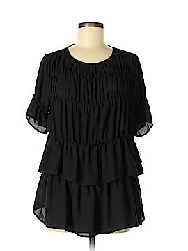 INC International Concepts Short Sleeve Blouse Size M