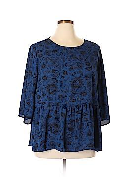 Faded Glory 3/4 Sleeve Blouse Size 20 (Plus)