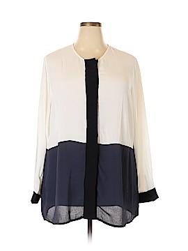 Ulla Popken Long Sleeve Blouse Size 20 - 22 Plus (Plus)