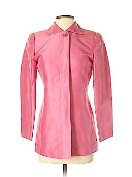 Linda Allard Ellen Tracy Silk Blazer Size 0 (Petite)