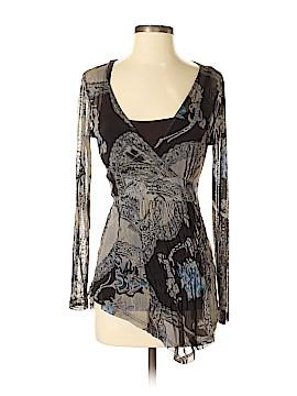 Lynn Ritchie Long Sleeve Silk Top Size XS