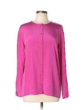 Tibi Long Sleeve Silk Top Size 2