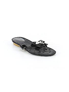 Coach Heart Poppy Flip Flops Size 8