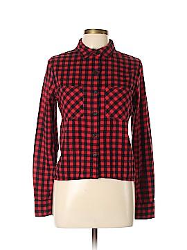 Trafaluc by Zara Long Sleeve Button-Down Shirt Size L