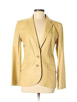 Strenesse Gabriele Strehle Leather Jacket Size 40 (EU)