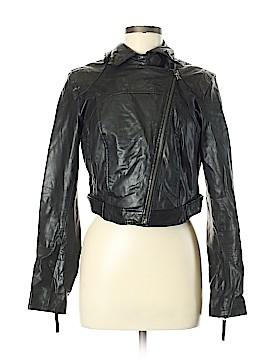 Black Rivet Faux Leather Jacket Size M