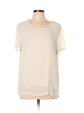 DKNY Short Sleeve Silk Top Size L