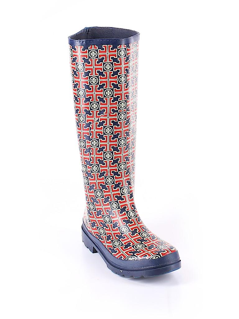 e530d90f1cb Tory Burch 100% Rubber Print Navy Blue Rain Boots Size 8 - 74% off ...