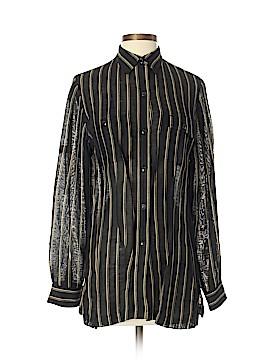 Lauren by Ralph Lauren Long Sleeve Silk Top Size 2