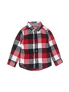 Cat & Jack Long Sleeve Button-Down Shirt Size 4T