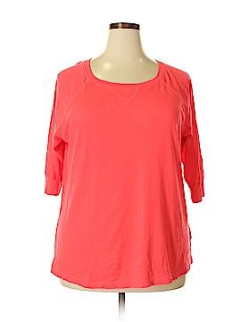 Calvin Klein 3/4 Sleeve T-Shirt Size 2X (Plus)