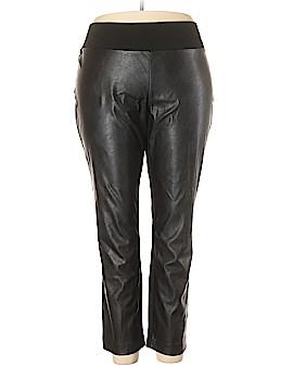 INC International Concepts Faux Leather Pants Size 24 W (Plus)