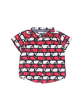 Mud Pie Short Sleeve Button-Down Shirt Size 12-18 mo
