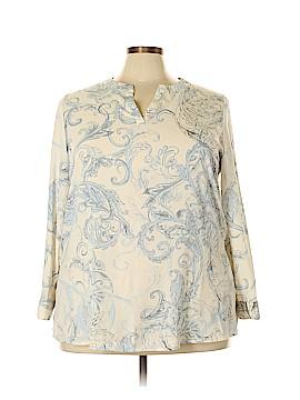 Susan Graver Long Sleeve Blouse Size 20 (Plus)