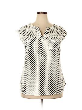 INC International Concepts Short Sleeve Blouse Size 1X (Plus)