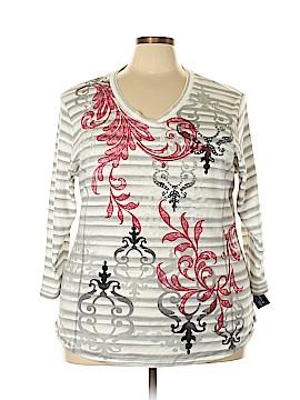 Karen Scott Sport 3/4 Sleeve T-Shirt Size 3X (Plus)