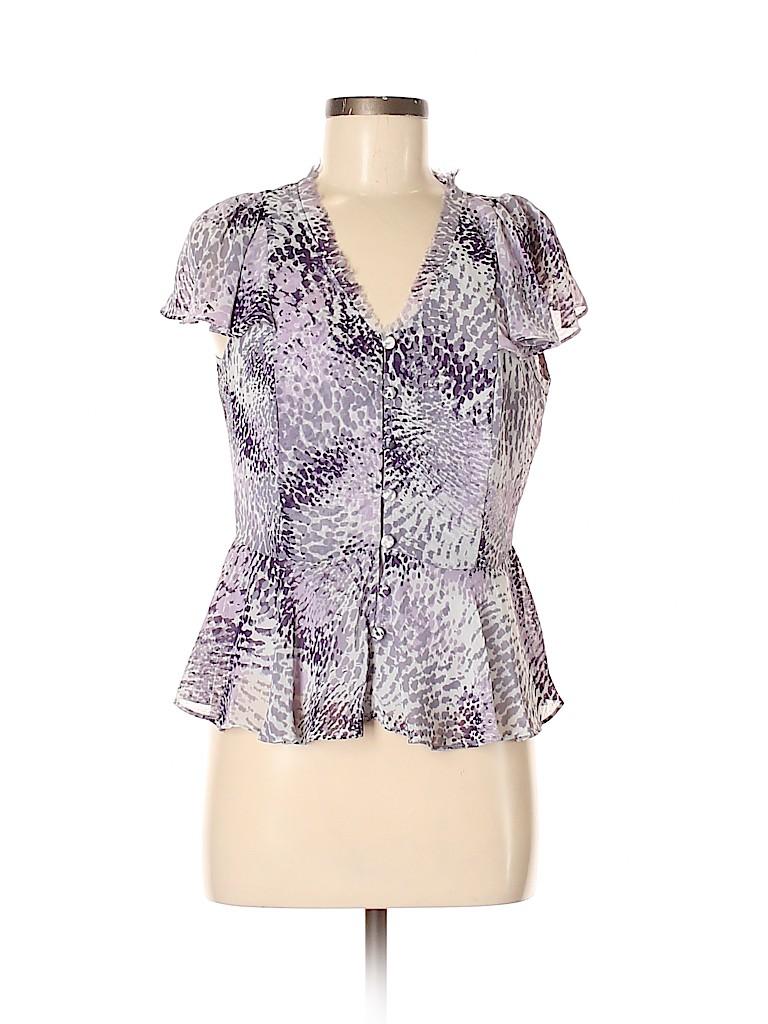 Elle Women Short Sleeve Blouse Size M