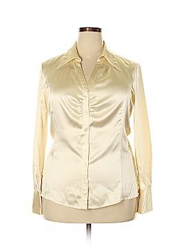 Classiques Entier Long Sleeve Silk Top Size XL