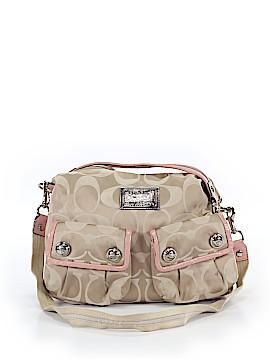 Coach Heart Poppy Leather Satchel One Size