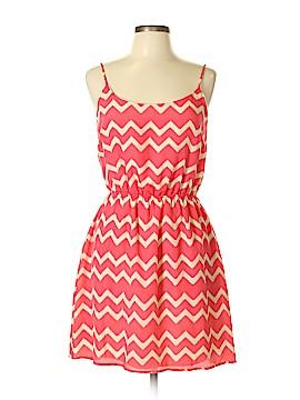 Peach Love Cream California Casual Dress Size L