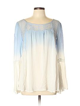 En Creme Long Sleeve Blouse Size L