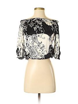 White House Black Market 3/4 Sleeve Silk Top Size XXS