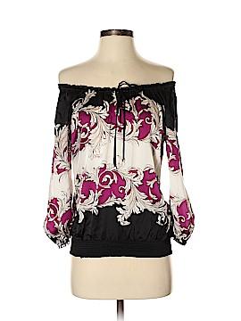 White House Black Market 3/4 Sleeve Silk Top Size XS