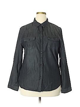 C'est Toi Long Sleeve Button-Down Shirt Size 2X (Plus)