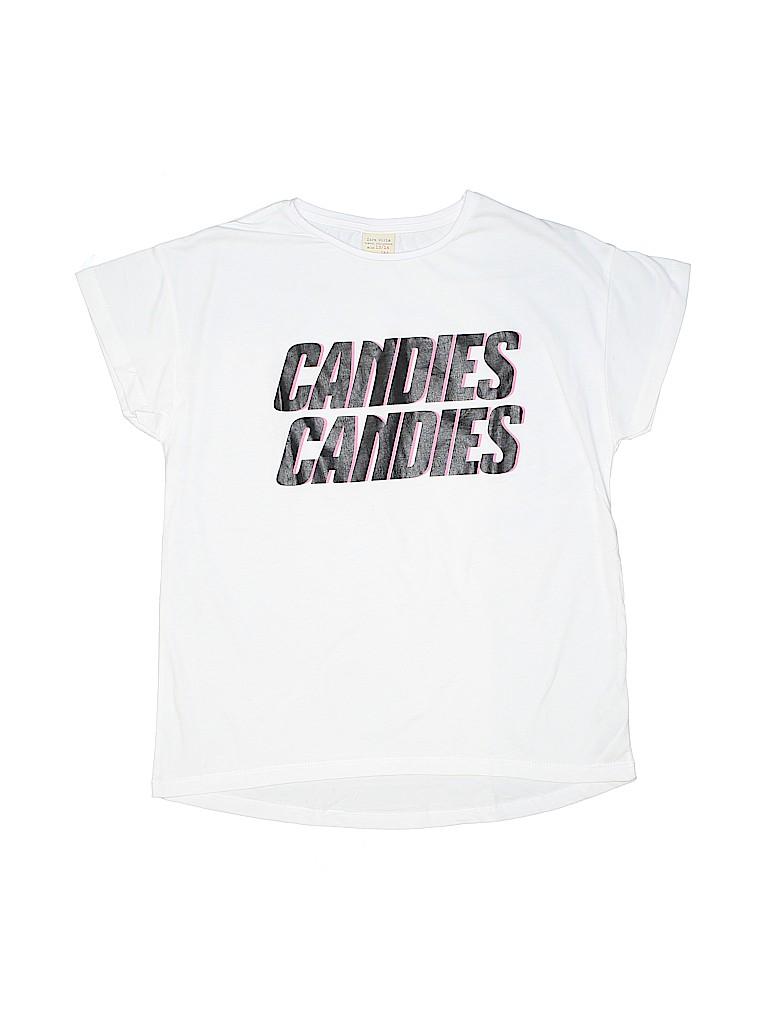 794bb55e21 Zara 100% Cotton Graphic White Short Sleeve T-Shirt Size 13 - 14 ...