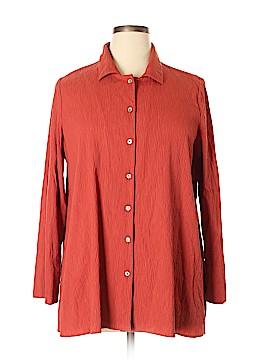 Marla Wynne Long Sleeve Button-Down Shirt Size XL