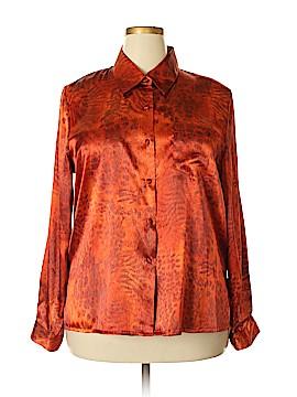 K.C. Studio Long Sleeve Button-Down Shirt Size 18 (Plus)