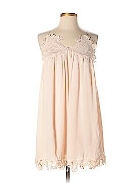 A. Peach Casual Dress Size M