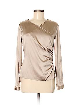 Ralph Lauren Black Label Long Sleeve Silk Top Size 6
