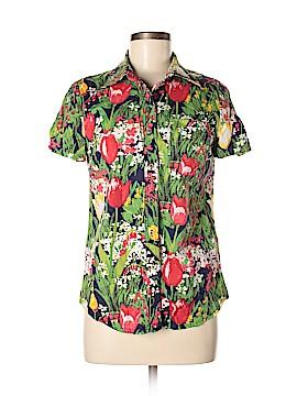 Tory Burch Short Sleeve Button-Down Shirt Size 6