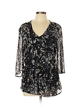 Ella Moss 3/4 Sleeve Silk Top Size L