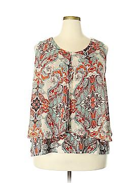 Roz & Ali Sleeveless Blouse Size 3X (Plus)