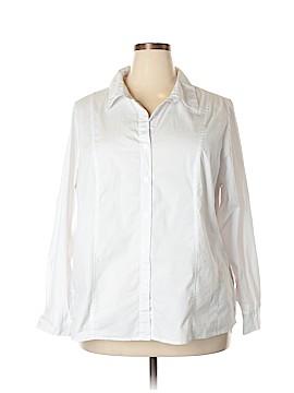 Roz & Ali Long Sleeve Button-Down Shirt Size 3X (Plus)