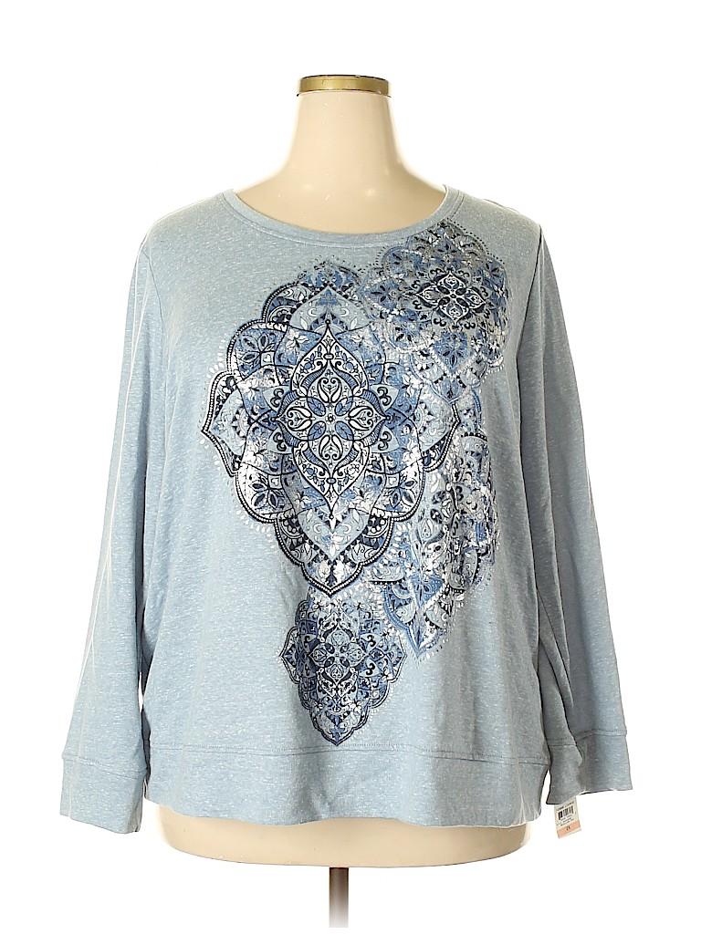 Style&Co Women Sweatshirt Size 0X (Plus)