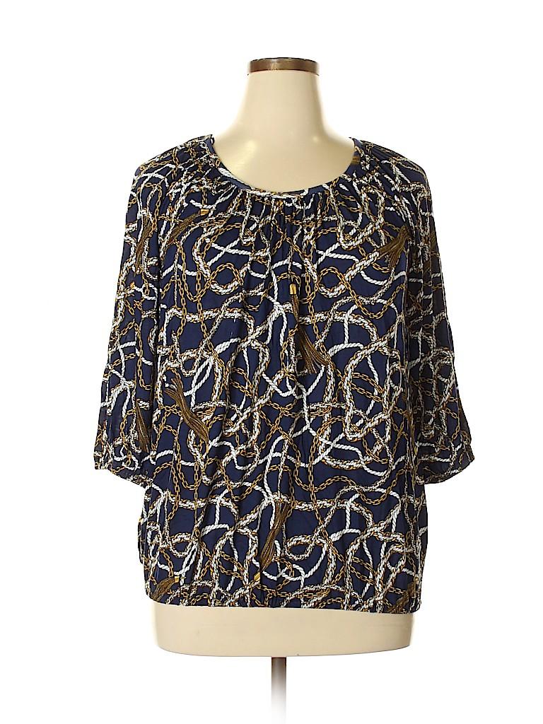 MICHAEL Michael Kors Women 3/4 Sleeve Top Size 0X (Plus)