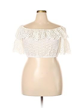 Fashion Nova Short Sleeve Blouse Size 2X (Plus)