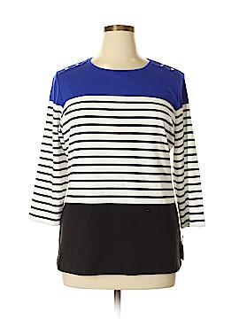 Karen Scott Sport 3/4 Sleeve Top Size 0X (Plus)