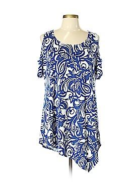 Slinky Brand Short Sleeve Blouse Size L