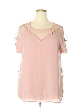 FASHION TO FIGURE Short Sleeve Blouse Size 1X Plus (1) (Plus)
