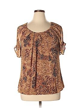 Roz & Ali Short Sleeve Blouse Size XL
