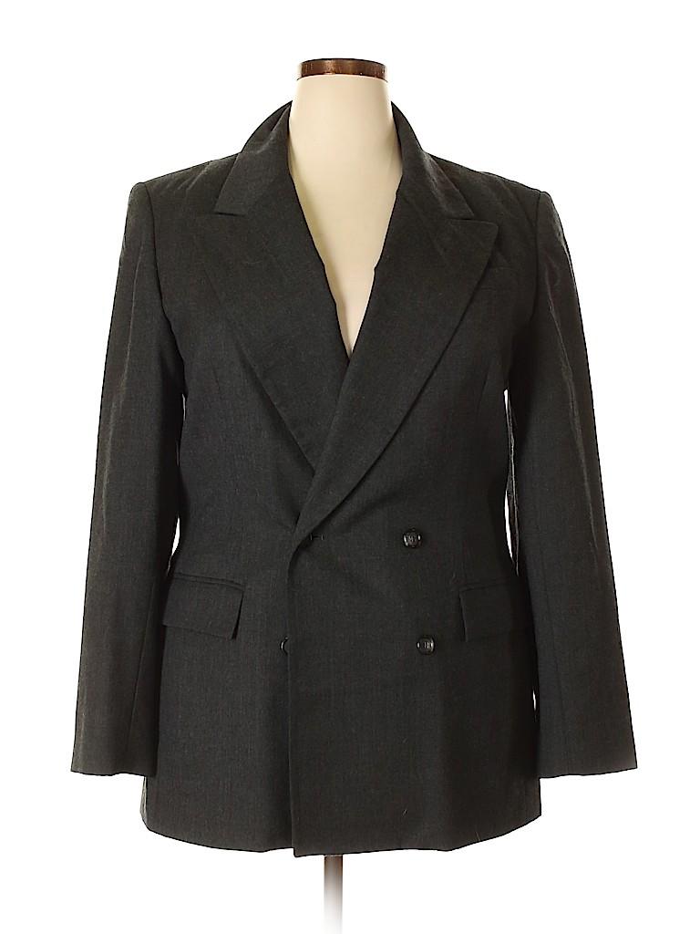 Talbots Women Wool Blazer Size 16 (Tall)